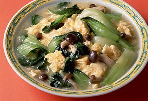 いり卵と青梗菜の中国風煮