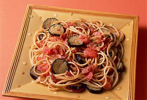 ベーコンとなすのスパゲティ