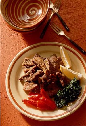 豚レバーのカレー風味揚げ
