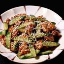 鶏肉ときゅうりのごま風味炒め
