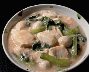豆腐と青梗菜の明太子煮