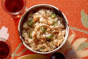 ピリ辛チキン混ぜご飯