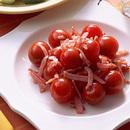 プチトマトのハムの炒めもの
