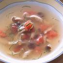 きのことベーコンのスープ
