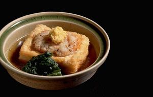 たたきえびの揚げだし豆腐