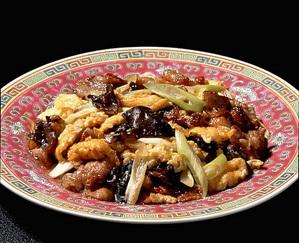 卵と豚肉の中国風炒め
