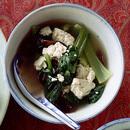 青梗菜とくずし豆腐のスープ