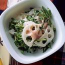 れんこんとクレソンの明太サラダ