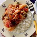 野菜と豚肉のトマト煮