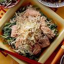 小松菜と生鮭の蒸し煮