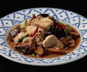 豆腐と豚肉のみそ炒め