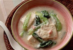 豆腐とたらこのスープ煮