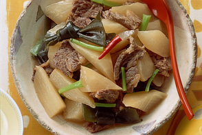 大根と牛肉のあっさり煮