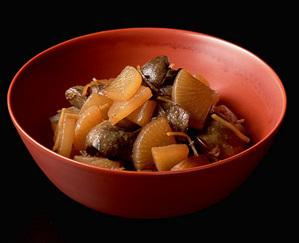 レバーと大根の醤油煮