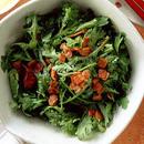 春菊サラダのベーコンドレッシング
