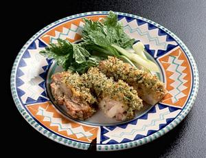 鶏肉のマスタード風味焼き