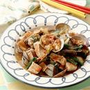 あさりと豆腐のキムチ蒸し