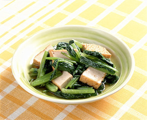 小松菜と厚揚げのさっと煮
