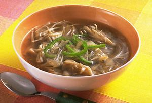きのこと玉ねぎのスープ