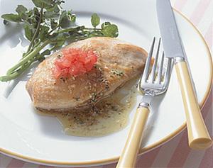 チキンソテー 香草バターソース