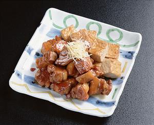 豚バラ肉と厚揚げのこってり煮
