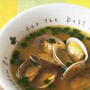あさりとにらのスープ