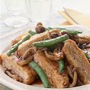 鶏ひき肉の油揚げサンド