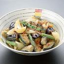 揚げ野菜とじゃこ、桜えびの香り炒め