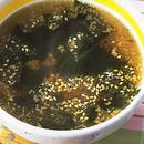 ひき肉とわかめのスープ