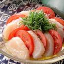 トマトと帆立ての和風サラダ