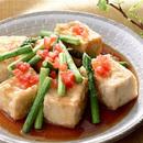 アスパラとトマトの揚げだし豆腐