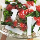 うどと菜の花の梅肉かけ