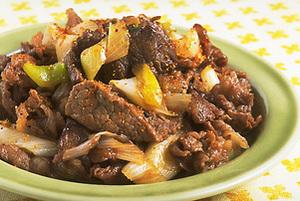 牛肉とねぎの甘辛煮