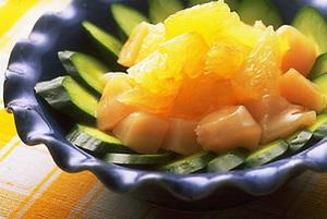 帆立てとグレープフルーツのサラダ