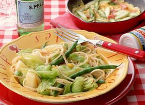 野菜たっぷりスパゲティ