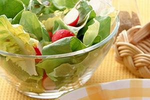 サラダ菜とラディッシュのサラダ