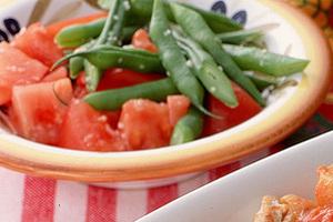 いんげんとトマトのサラダ