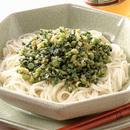 野沢菜炒めのひんやり麺