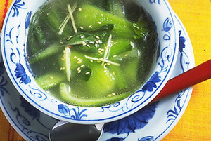 青梗菜のスープ