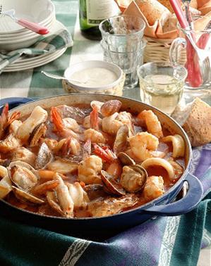 魚介のトマトスープ煮