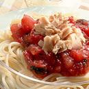 トマトとツナのひんやりスパゲティ