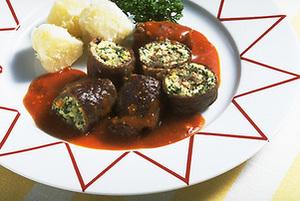 豆腐入り牛肉ロール