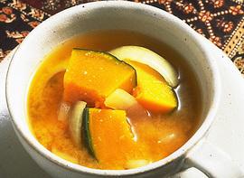 かぼちゃと玉ねぎのみそ汁