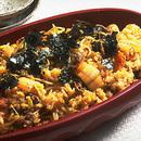 牛肉とキムチの炊き込みご飯