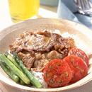 豚肉のカレーソテーご飯