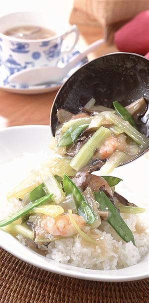 えびと野菜のあんかけ丼