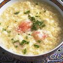 くずし豆腐とえびのスープ