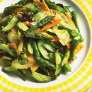 ゆで野菜のガーリック炒め