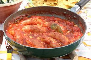 ソーセージと大豆のトマト煮