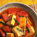 豆腐とトマトの炒め煮